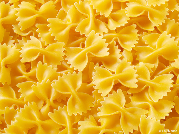 Simple textures add to the variety of images for Barilla Pasta. If you're in New York, you can see Lou Manna in person through Adorama, which frequently sponsors seminars with him.