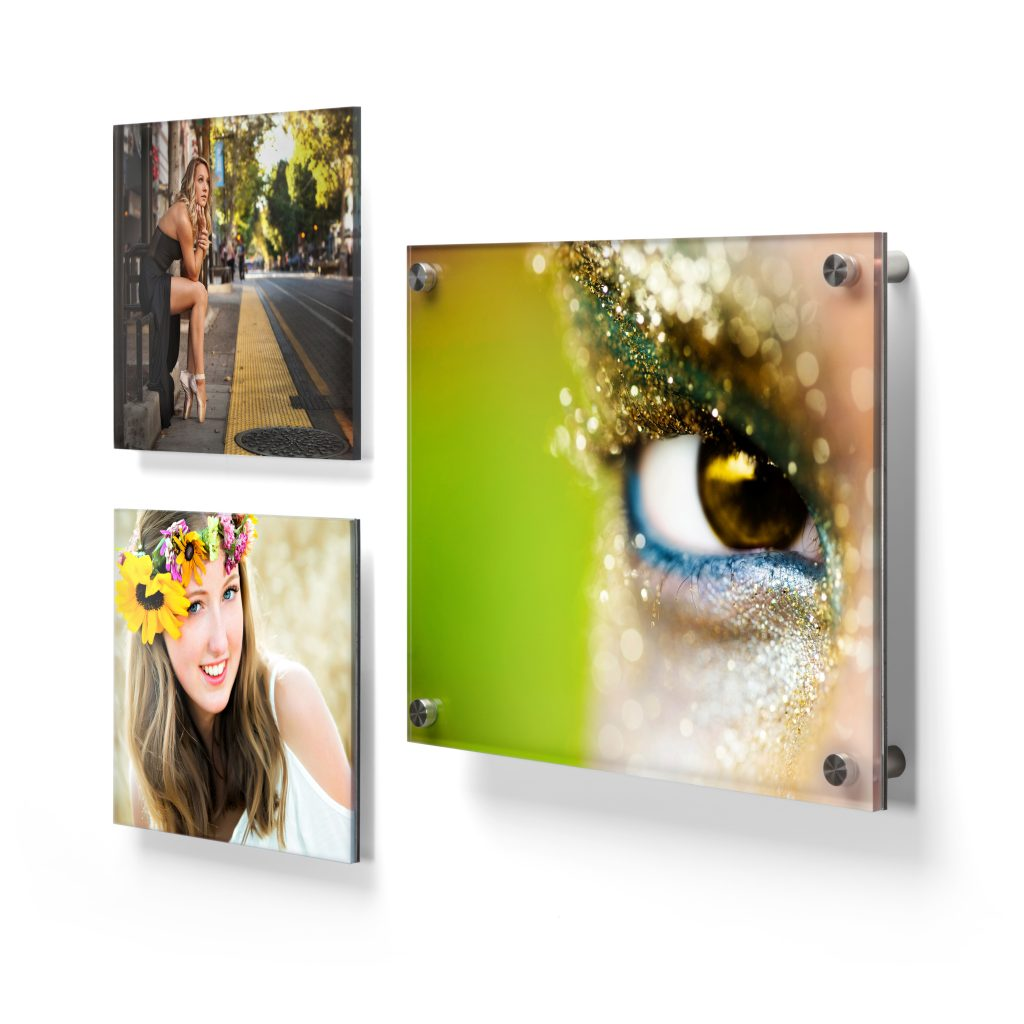 Bay Photo acrylic prints that include with posts and direct printing.