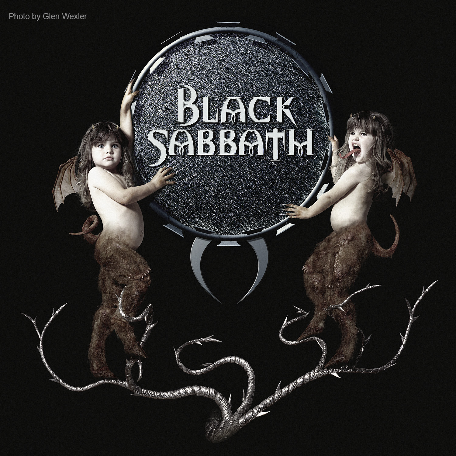 """Black Sabbath"" (1999) logo treatment and album cover for Black Sabbath. The type was created with 3D software. All other elements and surfaces are photography."