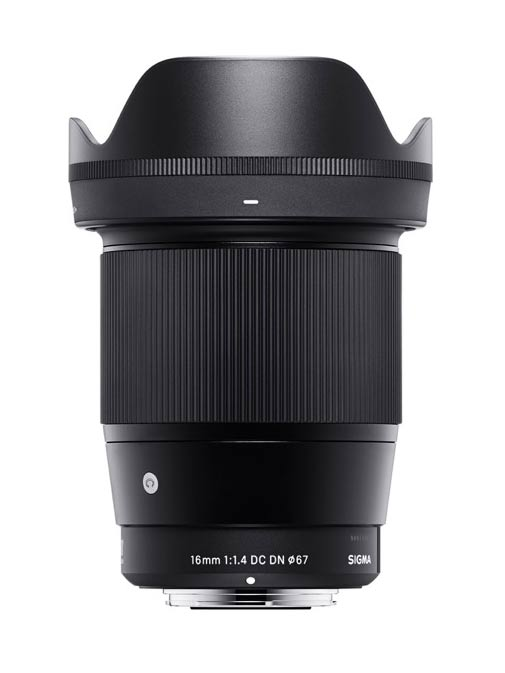 Sigma 16mm F1.4 DC DN Contemporary lens