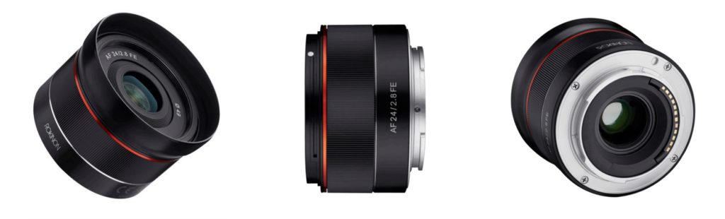 Rokinon Adds The Compact AF 24mm F2.8 To Its Sony E Mount Lenses